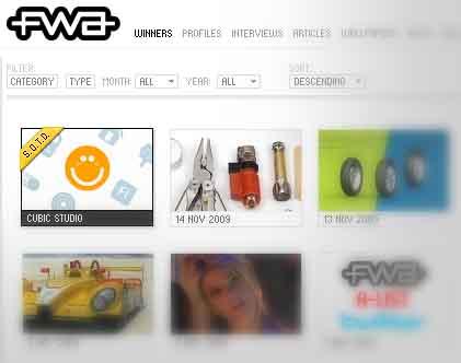 The FWA: Excelente galería de sitios web