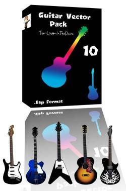 Vectores gratuitos de guitarras electricas