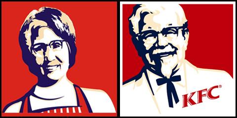 Comparando logos, podrían ser hermanos Ji'a'Po y KFC