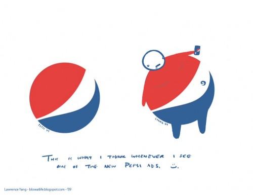 Comedia con el logo de Pepsi