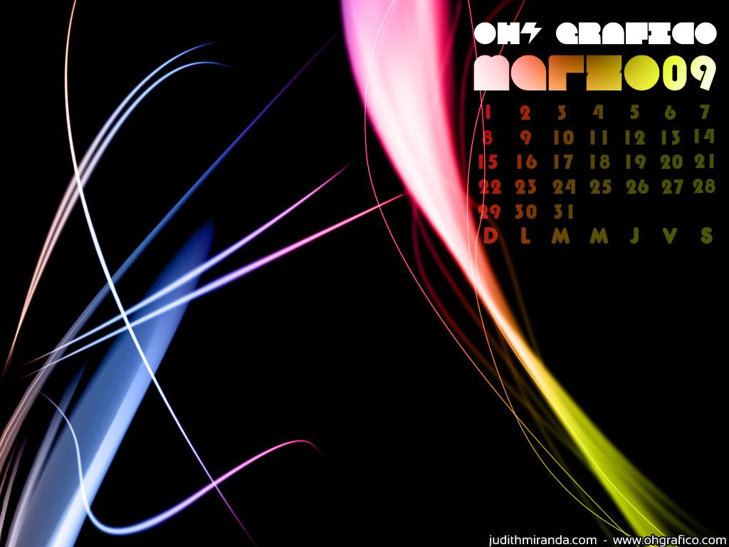 Wallpaper Calendario Marzo 2009