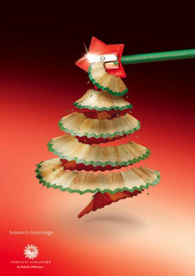 Creativa publicidad navideña