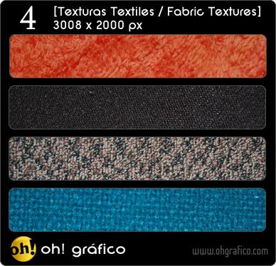 Pack de 4 texturas textiles en alta resolución