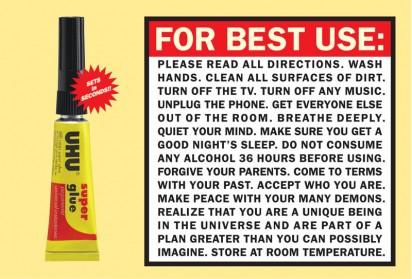 Publicidad de UHU (el adhesivo)