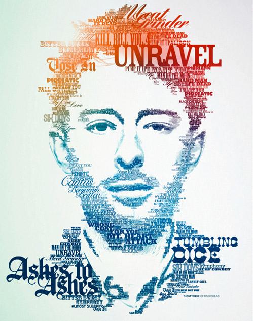 Video – Poster Tipográfico de publicidad de los Grammys 2009